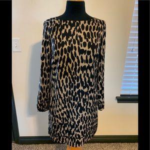 Women's Ann Taylor Loft animal print dress size 2